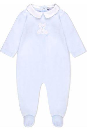 PATACHOU Teddy bear-embroidered long-sleeve pyjamas