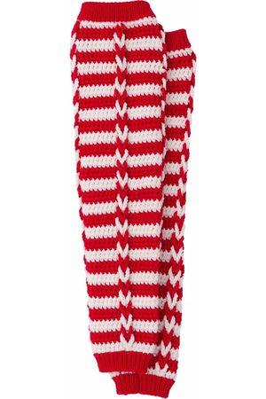Miu Miu Women Socks - Striped leg warmers