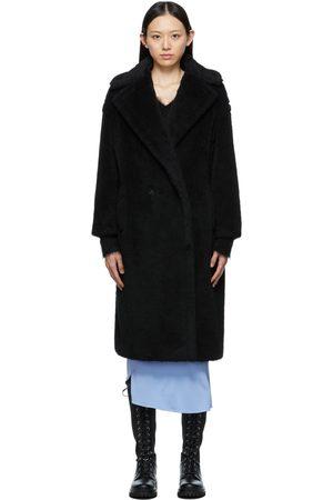 Max Mara Women Coats - Black Teddy Bear Icon Coat