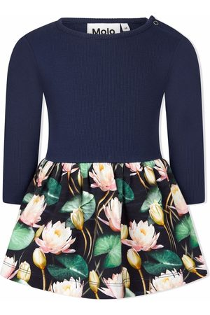 Molo Water lilies-print flared dress