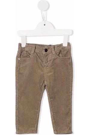 Emporio Armani Kids Corduroy chino trousers - Neutrals