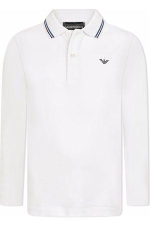Emporio Armani Kids Logo-print long-sleeve polo shirt