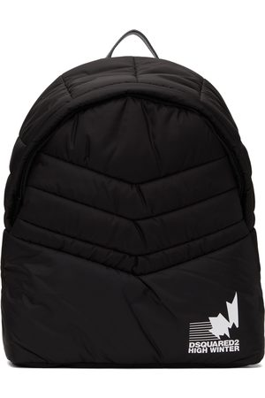 Dsquared2 Men Luggage - Black Padded Nylon Backpack
