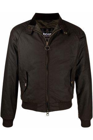 Barbour Funnel neck zip-up wax jacket
