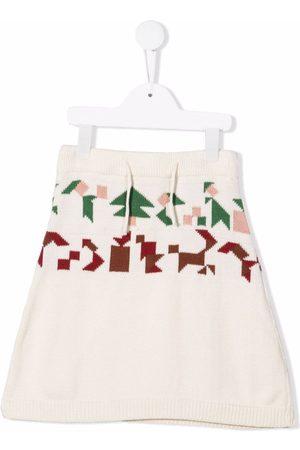 INFANTIUM VICTORIA Jacquard knit skirt - AVORIO
