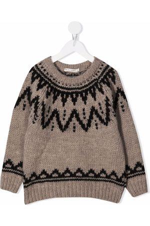 THE NEW SOCIETY Intarsia knit jumper - Neutrals