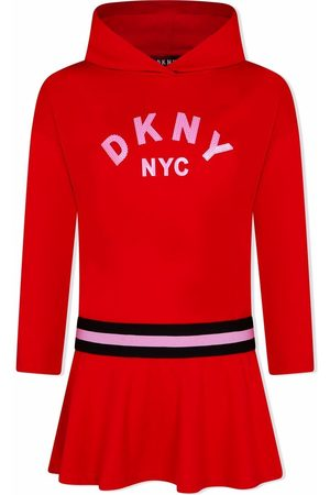DKNY Girls Casual Dresses - Sequined hooded dress