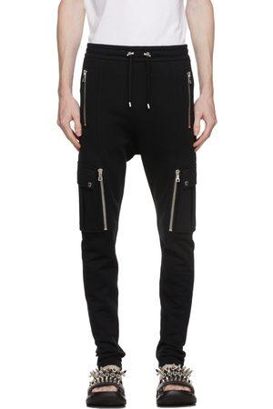 Balmain Black Cotton Cargo Lounge Pants