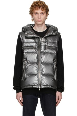 Balmain Silver Down Puffer Vest