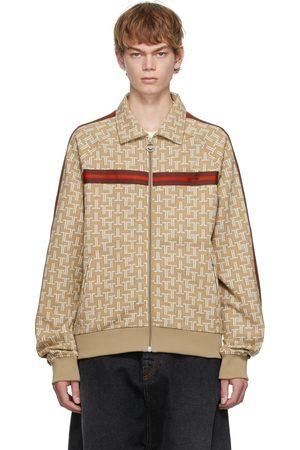 Lanvin Men Sports Hoodies - Brown Monogram Tracksuit Sweater