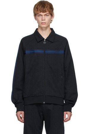 Lanvin Men Sports Hoodies - Black Maze Tracksuit Sweater