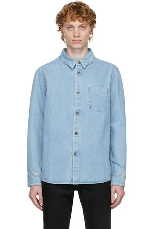 A.P.C. Men Denim - Blue Denim Victor Shirt
