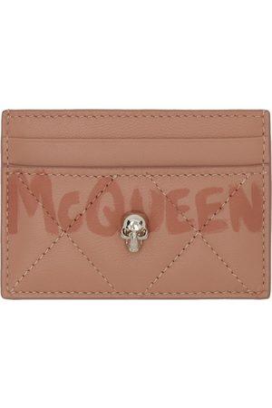 Alexander McQueen Women Wallets - Pink Quilted Graffiti Card Holder