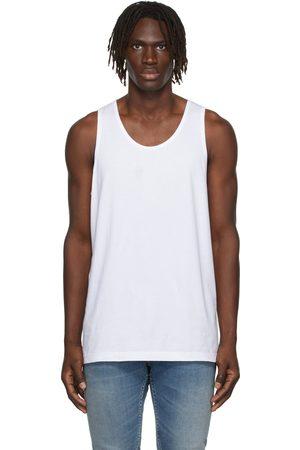 Comme des Garçons Shirt White Cotton Tank Top