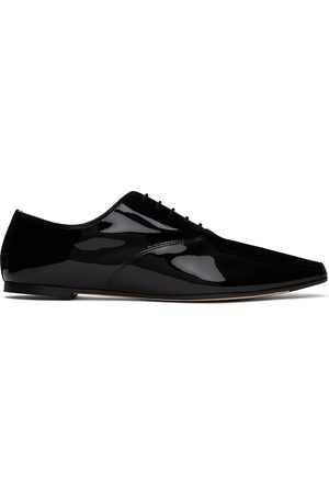 Repetto Women Formal Shoes - Black Patent Roy Oxfords