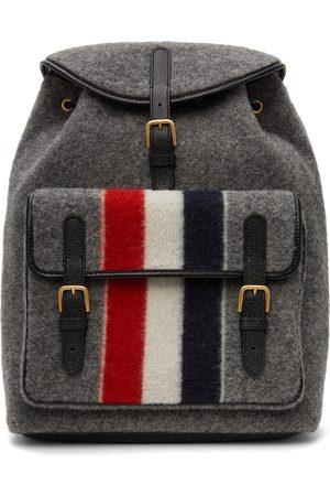 Thom Browne Grey RWB Stripe Hunting Backpack