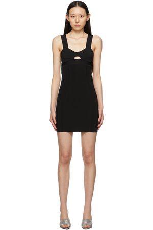 Herve Leger Women Party Dresses - Black Mini Strappy Bra Dress