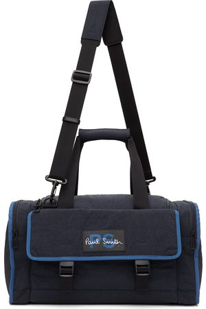 PS by Paul Smith Men Luggage - Navy Crinkled Duffle Bag