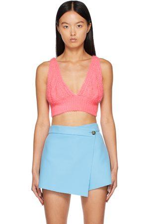 Msgm Women Bras - Pink Cable Knit Bra