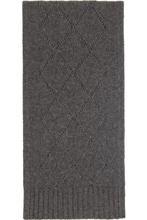 S Max Mara Women Scarves - Grey Cable Knit Scarf