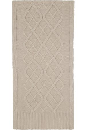 Max Mara Off-White Cable Knit Scarf