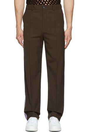 VALENTINO Men Pants - Brown Regular-Fit Trousers