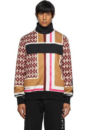 Valentino Men Jackets - Multicolor Foulard Print Track Jacket