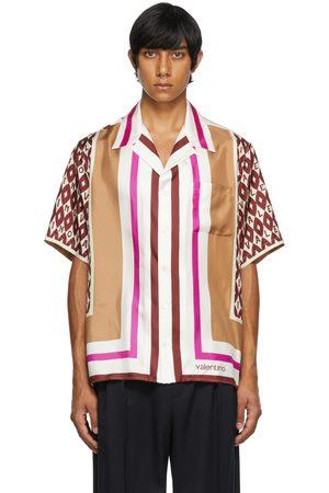 Valentino Men Shirts - Multicolor Foulard Print Bowling Shirt