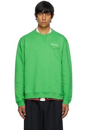 Valentino Men Sweatshirts - Green Garden Sweatshirt