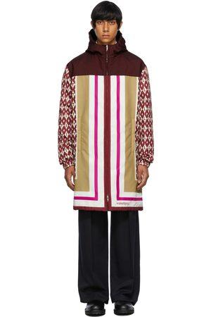 VALENTINO Men Coats - Multicolor Foulard Print Coat