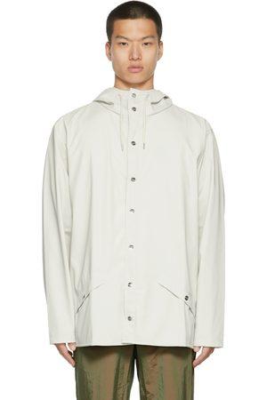 RAINS Men Rainwear - Off-White Rain Jacket