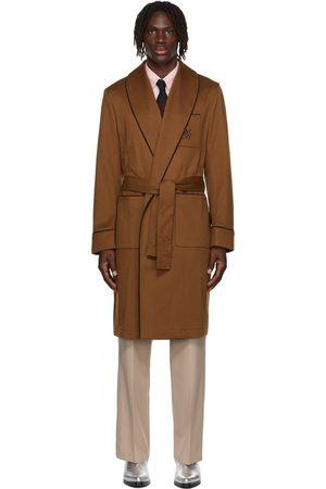 Ernest W. Baker Tan Brushed Wool Robe Coat