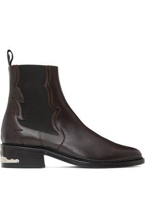 TOGA VIRILIS Men Chelsea Boots - SSENSE Exclusive Brown Leather Embellished Chelsea Boots