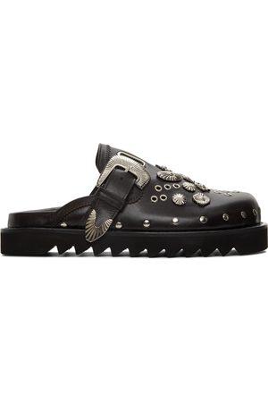 TOGA VIRILIS Men Clogs - SSENSE Exclusive Brown Leather Studded Clogs