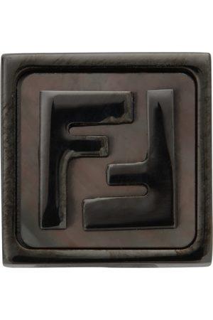 Fendi Black Mono Square FF Earring