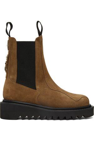 TOGA VIRILIS Men Chelsea Boots - Tan Suede Chelsea Boots