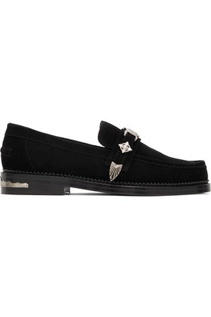 Toga Virilis Men Loafers - Suede Embellished Loafers
