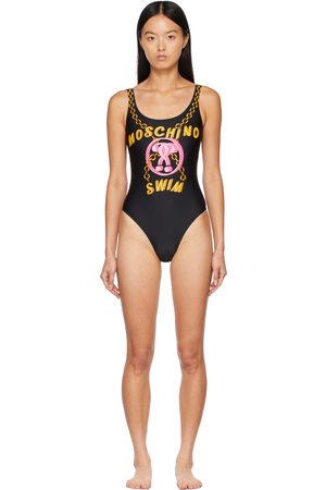 Moschino Black Chains One-Piece Swimsuit