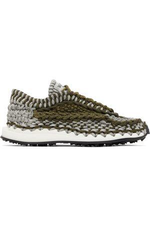 Valentino Garavani Men Sneakers - Grey & Khaki Crochet Sneakers