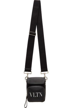 Valentino Garavani Men Luggage - Black 'VLTN' Messenger Bag