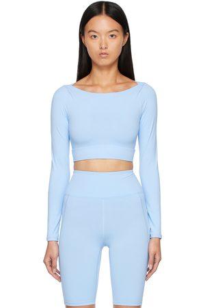 BONDI BORN Women Long sleeves - Blue Amara Long Sleeve Sport Top