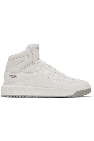 Valentino Garavani White Monotone One Stud Sneakers
