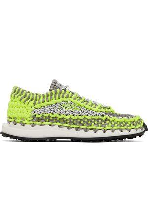 Valentino Garavani Green & Grey Crochet Sneakers