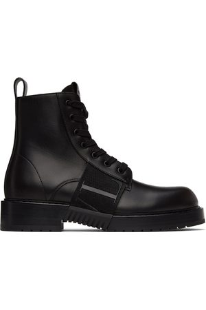 Valentino Garavani Black 'VL7N' City Combat Boots