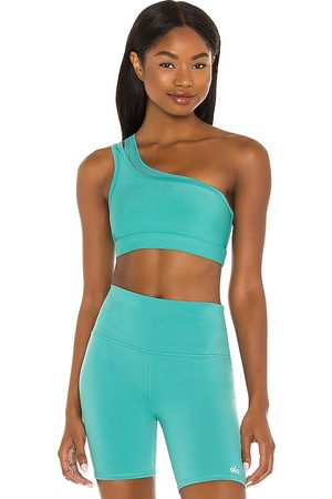 alo Airlift Excite Bra in Teal.