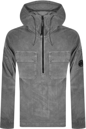 C P Company Men Cardigans - CP Company Corduroy Pullover Hooded Overshirt Grey