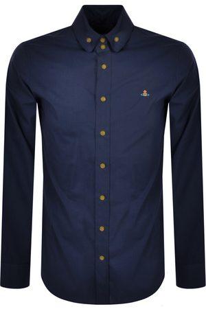 Vivienne Westwood Men Long sleeves - Slim Long Sleeved Shirt Navy