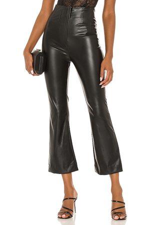 AMUR Faux Leather Crop Pant in .