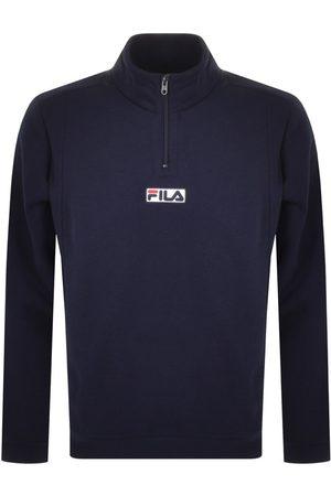 Fila Vintage Benta Half Zip Sweatshirt Navy