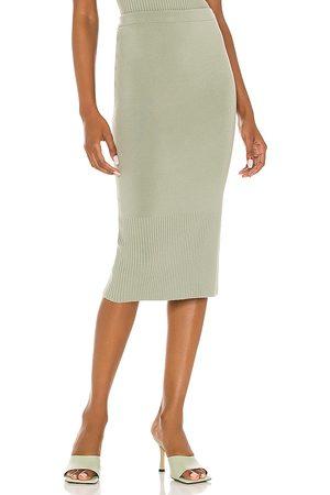 Alice + Olivia Leo Side Slit Mini Skirt in Sage.
